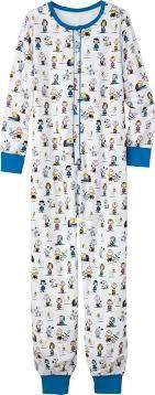 unisex classic peanuts onesie pajamas ol brown is