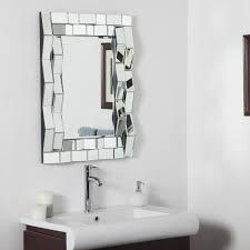designer bathroom mirrors décor modern bathroom mirror 23 6w x 31 5h in