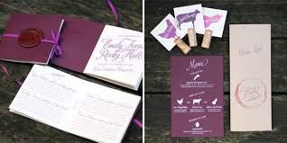 custom wedding programs pocket sized program booklets with wax seal left and guest