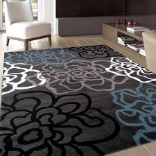 best accent area rugs for entry way kitchen bedroom carpet contemporary modern floral flowers gray area rug 5 2 x 7 2