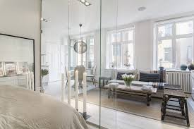 glass partition walls for home scandinavian beauty strikes again gorgeous flat with glass wall