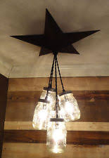 Farm Chandelier Mason Jar Light Ebay