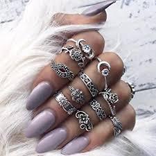 ring set malloom 11pcs set women bohemian vintage stack rings