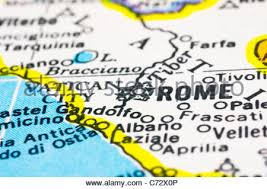 rome on a map geography travel italy rome city view copper engraving to