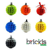 personalised lego balls ornament for the tree