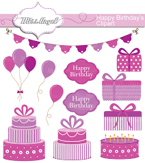 birthday clipart set 12 digital happy bday party clip art 6