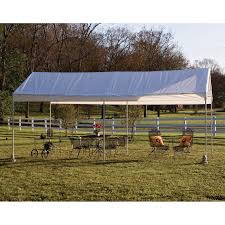 Outdoor Carport Canopy by Shelterlogic 10 X 20 Ft Deluxe All Purpose Canopy Carport Hayneedle