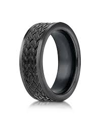 tire wedding ring black cobalt wedding band for with tire tread pattern