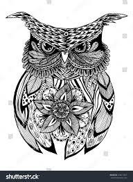 Portrait Owl Owls Head Abstract Bird Stock Vector 416617627