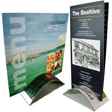 restaurant table top display stands leaflet display stand uk sign holders design pos pop retail