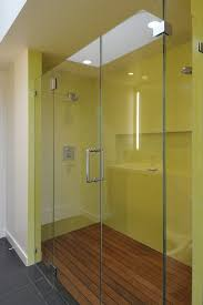 Bright Yellow Bathroom by Yellow And Black Bathroom Stall Divider For Modern Feel Bathroom