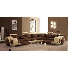 amazon com 4087 bonded leather sectional sofa with recliners