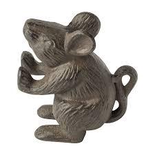 amazon com cast iron mouse door stop decorative rustic door