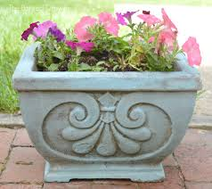 transforming old concrete planters and a feature