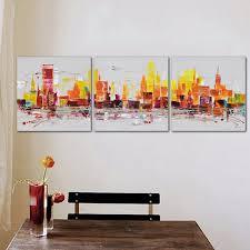 Handmade In New York - 3 panel city downtown cosmopolitan new york skyline handmade