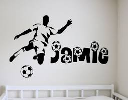 football wall stickers for the room of a football fanatic in decors football wall stickers for the room of a football fanatic