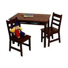childrens table and 2 chairs lipper rectangle table with shelf 2 chairs espresso lipper