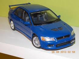 lancer evo 7 diecast mitsubishi lancer evo vii modelcar autoart 1 18 in blue