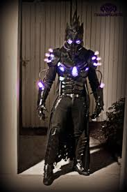 Light Up Costumes The Black Plague Dark Futuristic Light Up Costume By