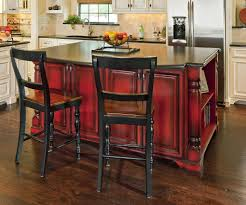 red kitchen islands love the red paint w dark glaze island vivid statement against