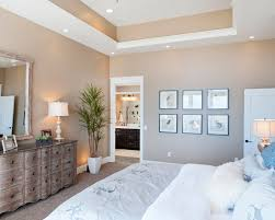 exquisite traditional bedroom with charming tray ceiling paint