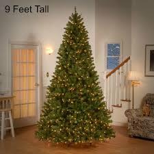 9 ft pre lit tree 700 clear lights decor