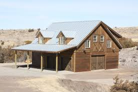 big timber mt barn with living quarters absaroka builders