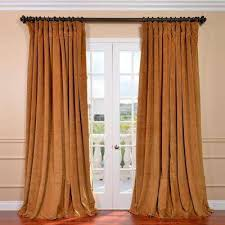 Orange And Brown Curtains Blackout Indoor Curtains Drapes Window Treatments The