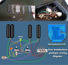 four humbuckers pickup wiring diagram hotrails and quadrail