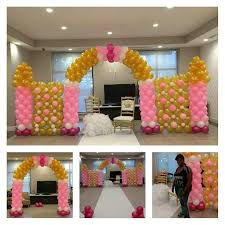 how to build a balloon castle wall for a princess theme pink