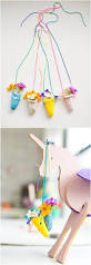 diy clay flower vase necklace such a cute nature flower craft for