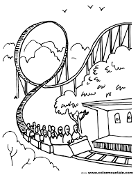 roller coaster coloring sheet create a printout or activity