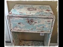 Refinishing Wood Furniture Shabby Chic by How To Paint Distress Antique Furniture Project 1 Painted Green