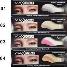 6 pair mekeup kit instant waterproof lasting eye shadow
