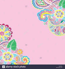 hand drawn colored doodle antistress zentangle design place for