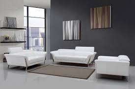 White Leather Sofa Modern Modern White Upholstered In Italian Leather Sofa Set New York New