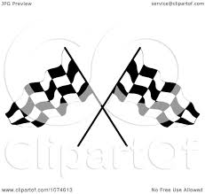 Checkered Racing Flags Clipart Two Crossed Checkered Racing Flags 1 Royalty Free Vector