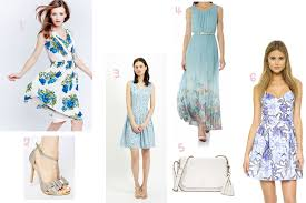 summer dress for wedding 4 blue dresses for a summer wedding guest prettygreentea