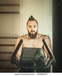 haircut for long torso young man naked torso mohawk haircut stock photo 478086337