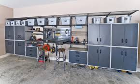 decorating garage cabinets and garage storage with organization