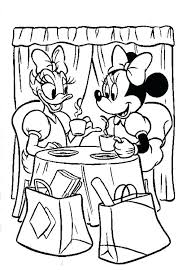 coloring pages of minnie mouse and daisy duck free minnie mouse coloring pages daisy duck having tea time with