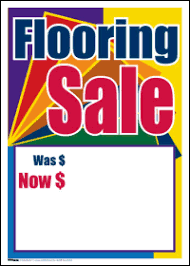 ceiling mobile flooring sale signs4retail