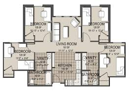 excited four bedroom apartments 16 besides house plan with four