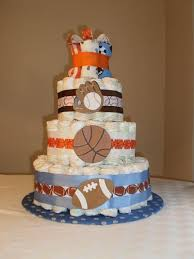 Sports Decorations Sports Theme Baby Shower Decorations Sports Theme Diaper Cake By
