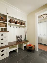 Built In Bench Mudroom Cost To Renovate Entry Traditional With Mudroom Drawers Slate Tile