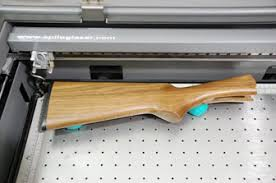 laser engraving gun stock checkering pattern