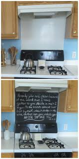 revamp your stove backsplash with chalkboard