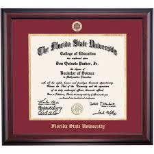 fsu diploma frame florida state graduation diploma frames by college ocm
