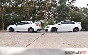subaru turbo wagon 2016 mitsubishi lancer evolution vs subaru wrx sti comparison