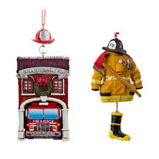 firefighter ornament set great gifts for occupations